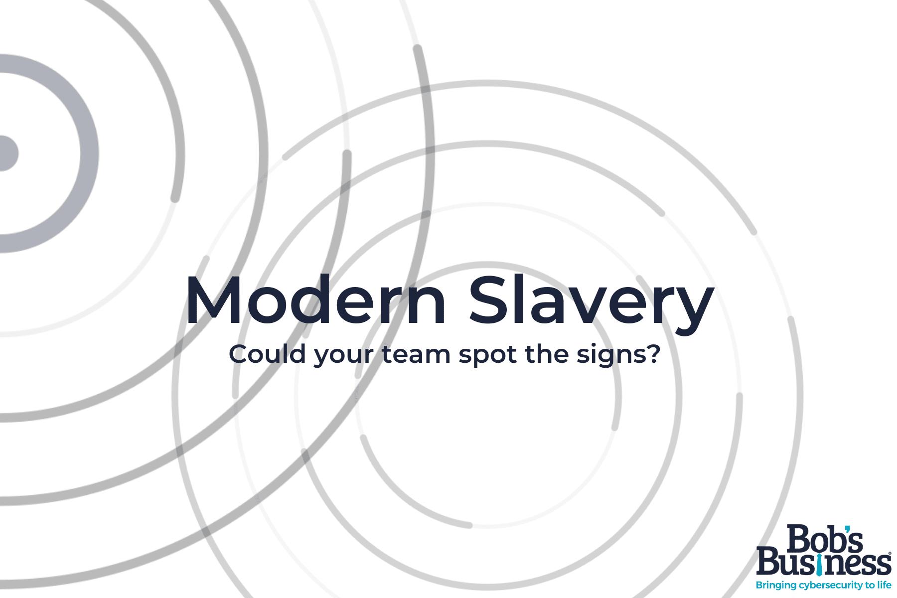 modern slavery course